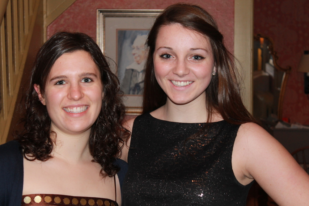 From left: Sarah Mandel '15 and Molly Voigt '15