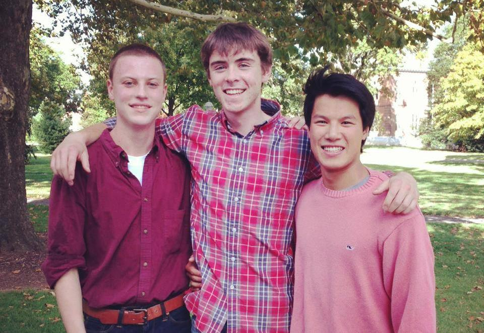 From left: Nick Zuroski '17, Maxwell Coleman '17, and Remi Levinson '17