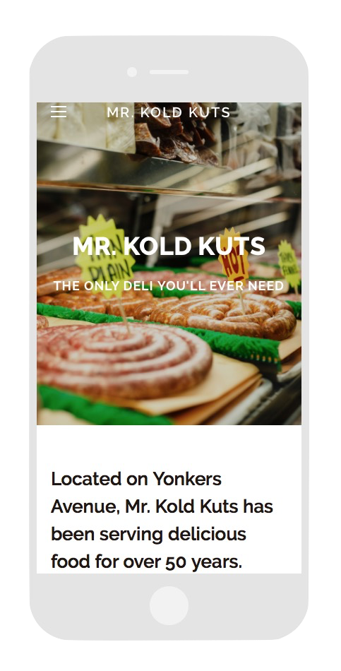 Check out the site - Click on the image to see how Mr. Kold Kuts went from Yonker's Ave. to www.mainstreet.usa!