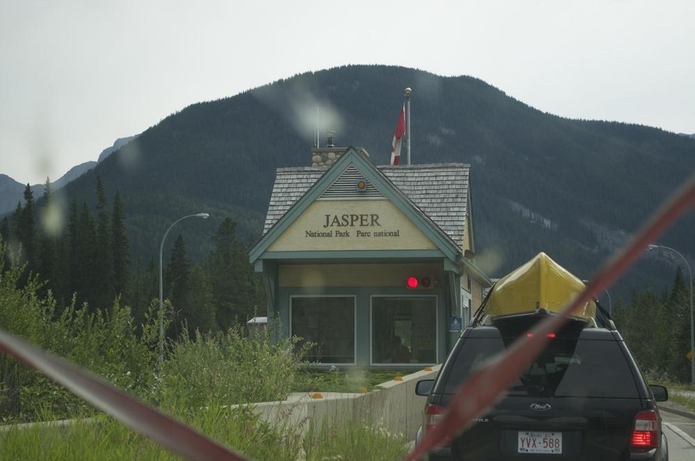 Entering Jasper National Park
