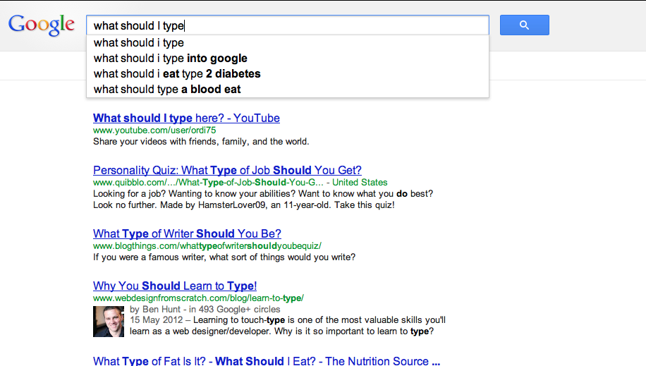Don't know what to ask? Let Google help...