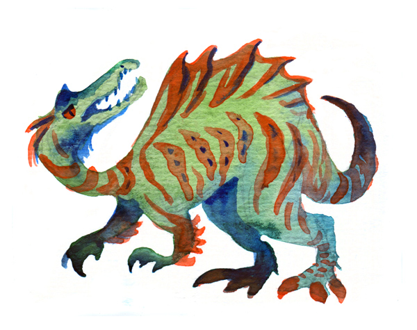 Snarling Spinosaurus