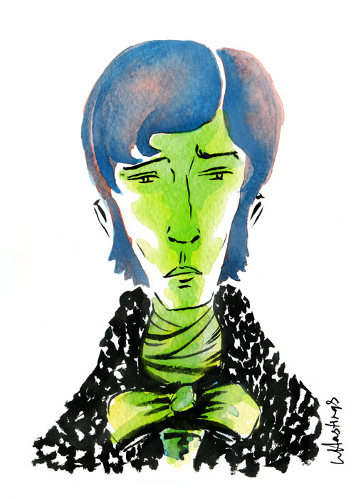 "Mr. Darcy   5"" x 7"" ink & Watercolor 