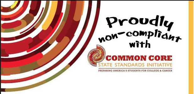 Display this graphic provide by Christine Miller to help spark up conversation as we work to Stop Common Core!