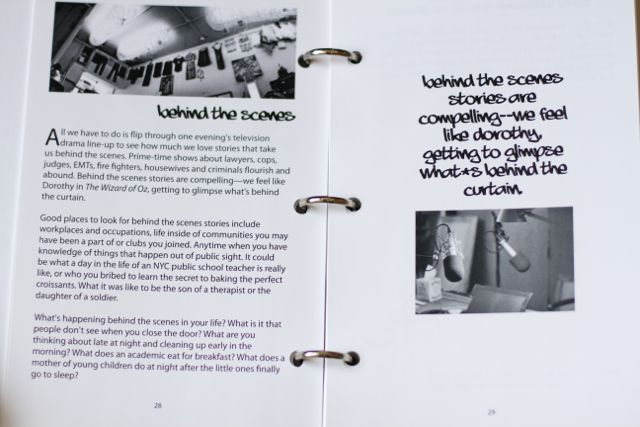 Inside the Telling Your Story workbook