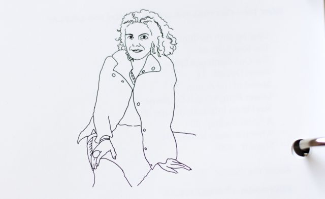 Inside the Telling Your Story workbook: hand illustrations by Liz Kalloch