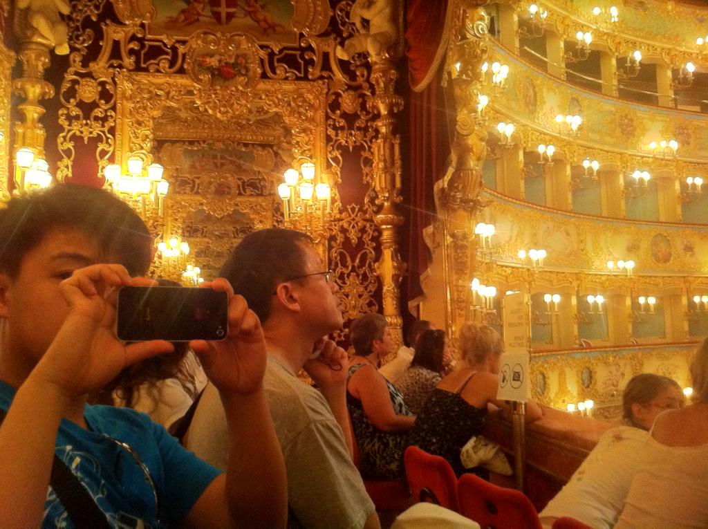 "La Fenice on Venice: the ""royal"" box."