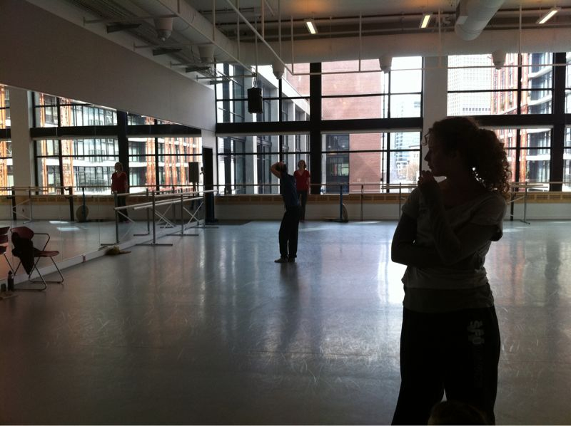 Rehearsal for SFU Dance Grad Show!