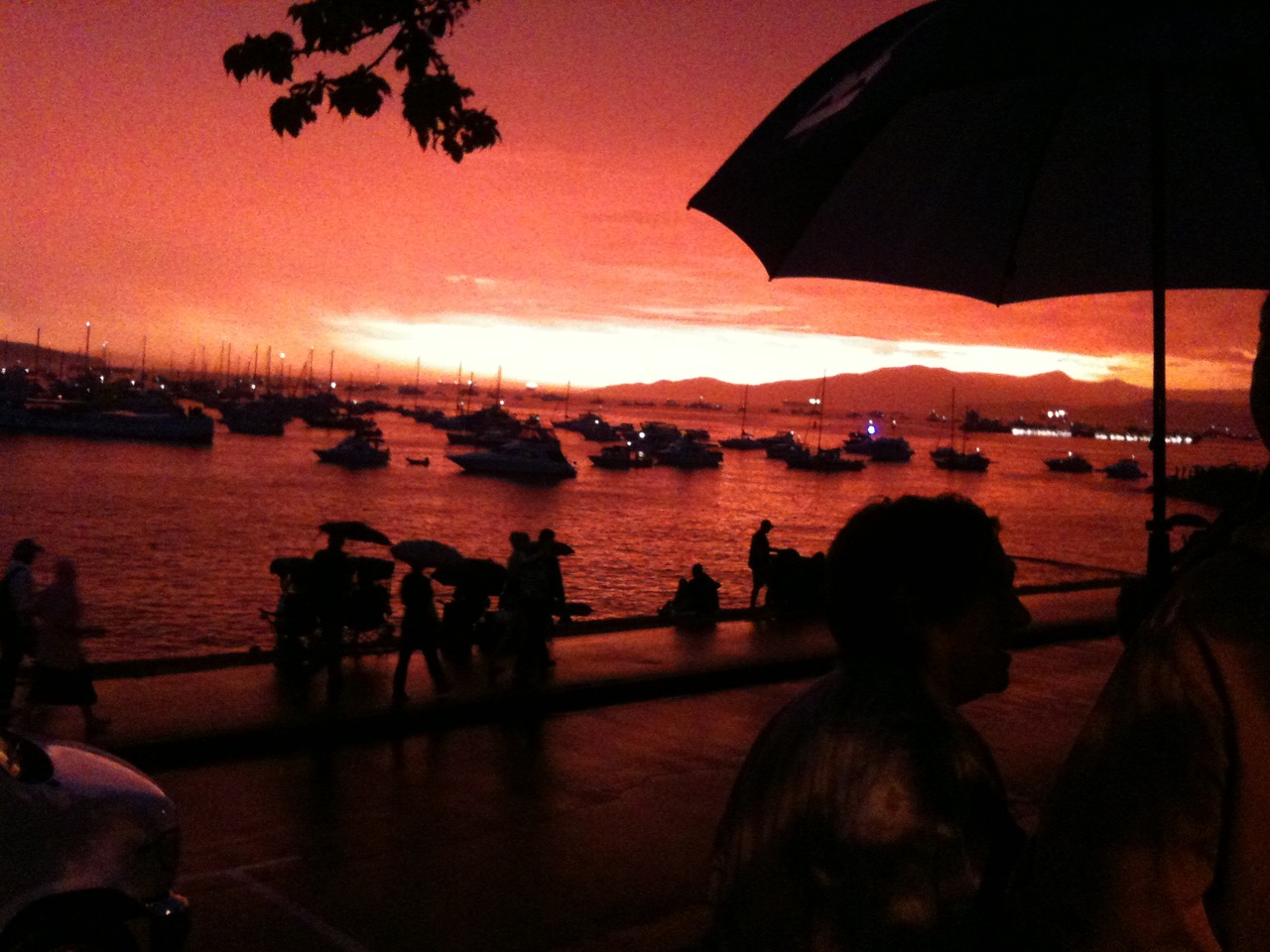 Orange Sky Umbrella