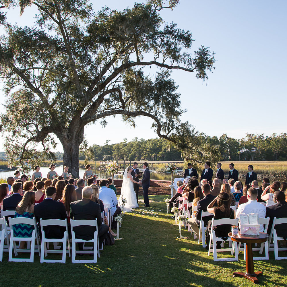Dunes West Wedding Ceremony by MCG