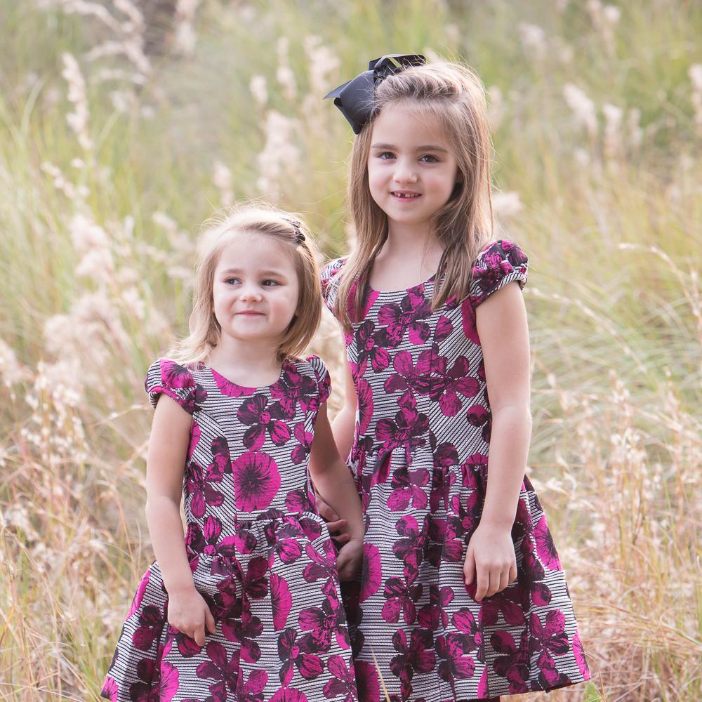 sisters in a field