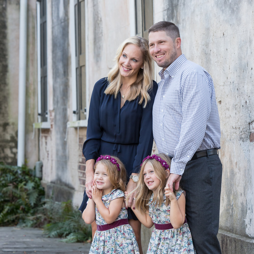 historic Charleston family portrait