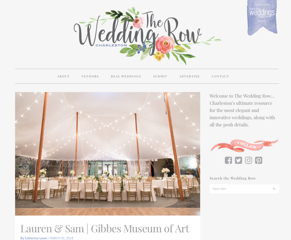 Wedding at the Gibbes blog