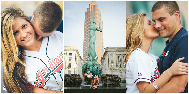 Cleveland Engagement Photographer   Downtown Cleveland