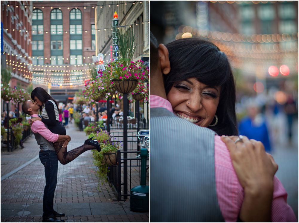 Cleveland Engagement Photography - East 4th - Wedding Photography - Modern