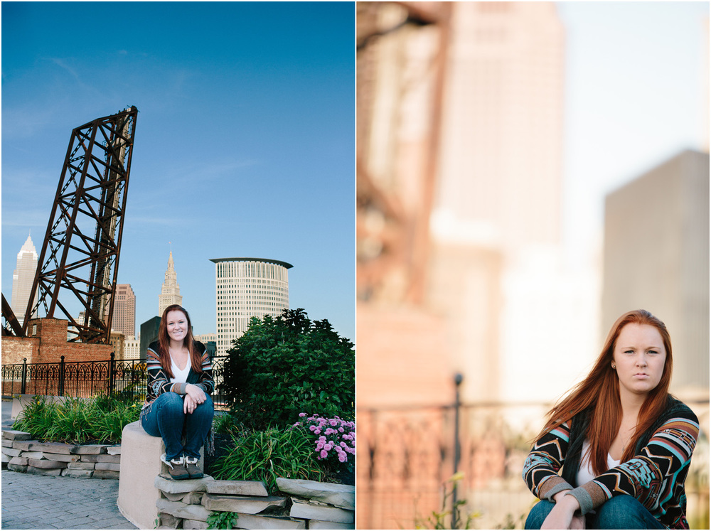 Awesome Urban Senior Portraits in Cleveland with cute girl