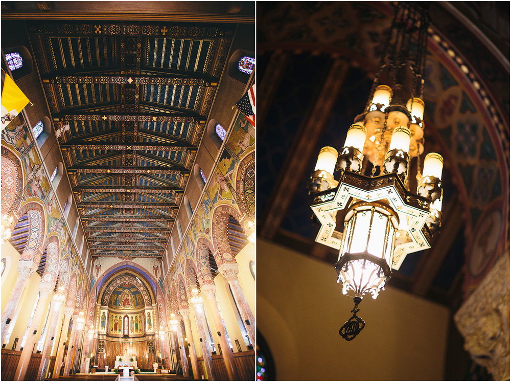 This church is huge! - Creative Cleveland Wedding Photographer - St. James Church