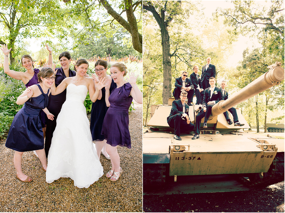So fun! Chicago Wedding Photographer - Catigny Park