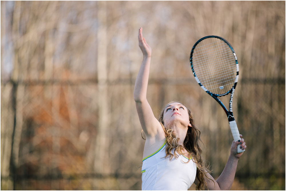A Beast at Tennis - Cleveland Senior Portrait Photographer - Ali Garrity - Mentor High School