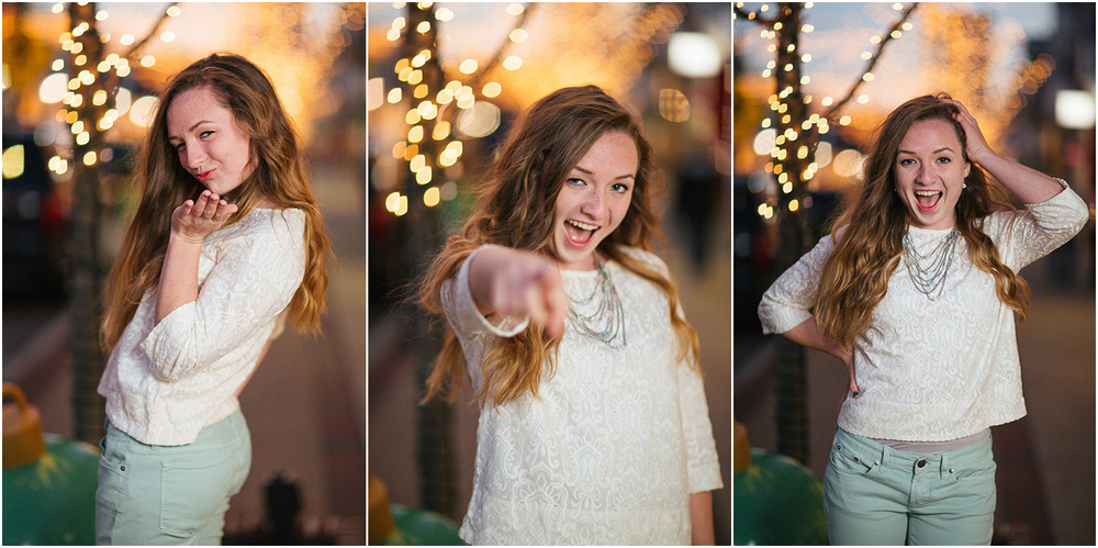 All of the lights! - Cleveland Senior Portrait Photographer - Ali Garrity - Mentor High School