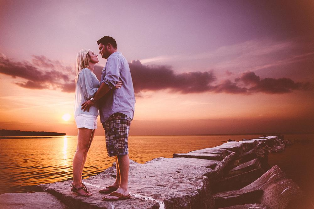 Cleveland Wedding Photographer Huntington Beach Engagement Samantha and Andrew