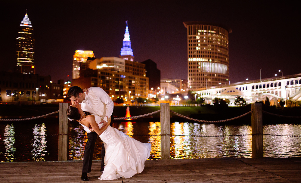 Mere and Joe Wedding in Cleveland at Windows on the RIver