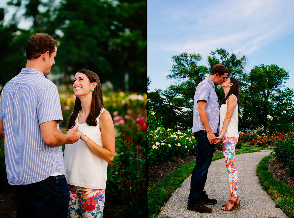 Cleveland Wedding Photographer - East Beach - Rose Garden - Engagement Photos