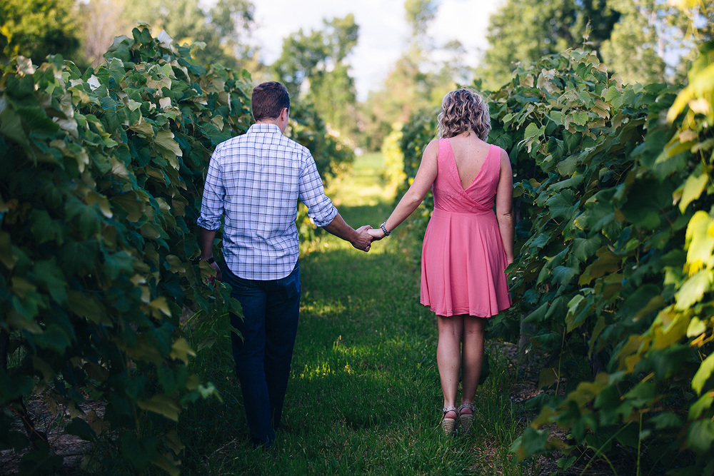 Cleveland Engagement Photographer Ohio Winery and Vineyard Bridget and Joe