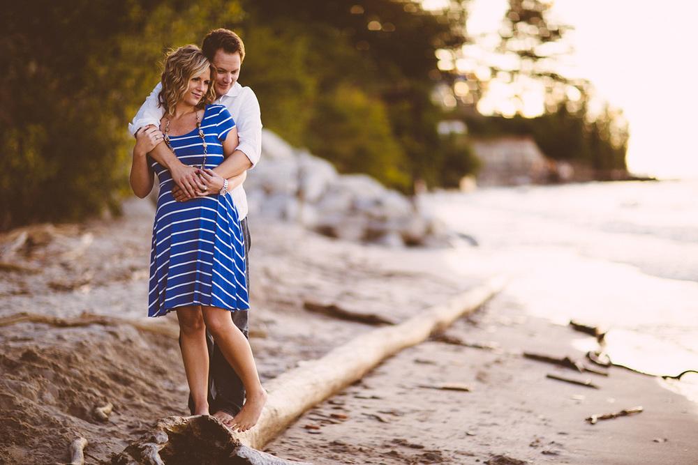 Bridget and Joe Engagements at a Vineyard and Beach