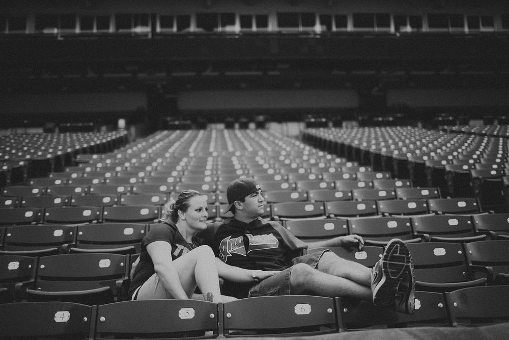 Jen and Matt Engagements at the Cleveland Indians Progressive Field