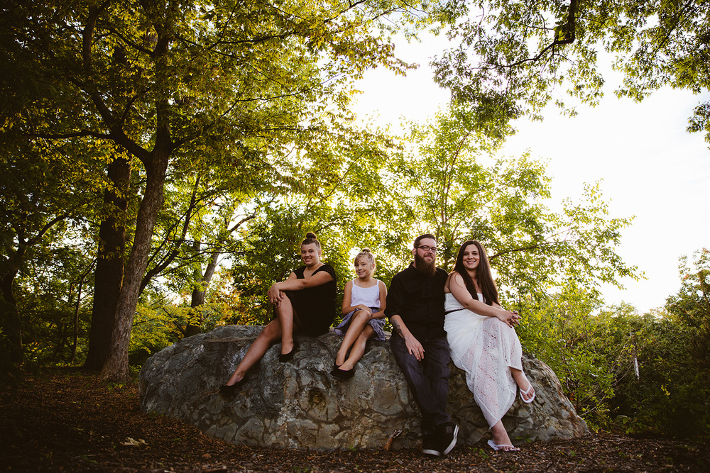 Jen and Chris (with Madison and Mackenzie) Portraits in Cleveland
