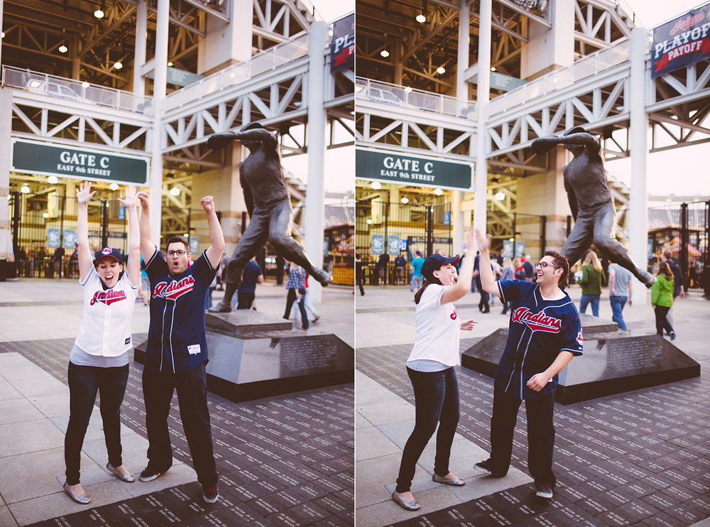 Cleveland Engagement Photograpgher East 4th, Browns Stadium, Progressive Field - Leslie and Max 09.jpg