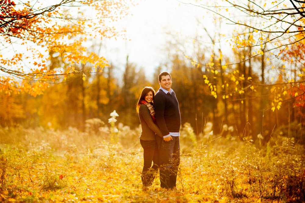 Maddy + Mitch a fall outdoor engagement session at patterson fruit farm