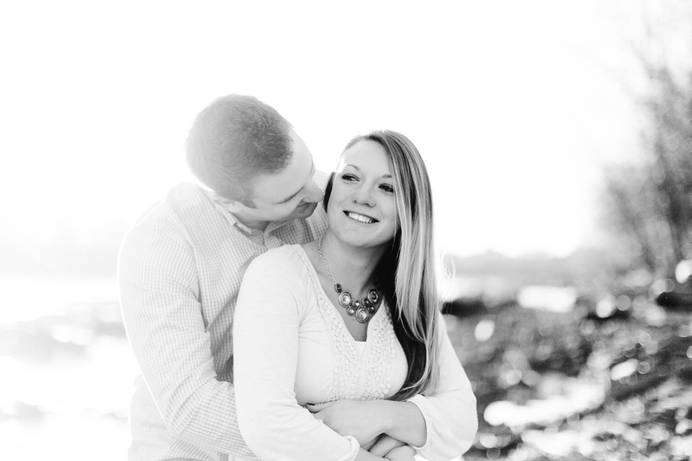 Rachael and Nick a columbus engagement session in downtown