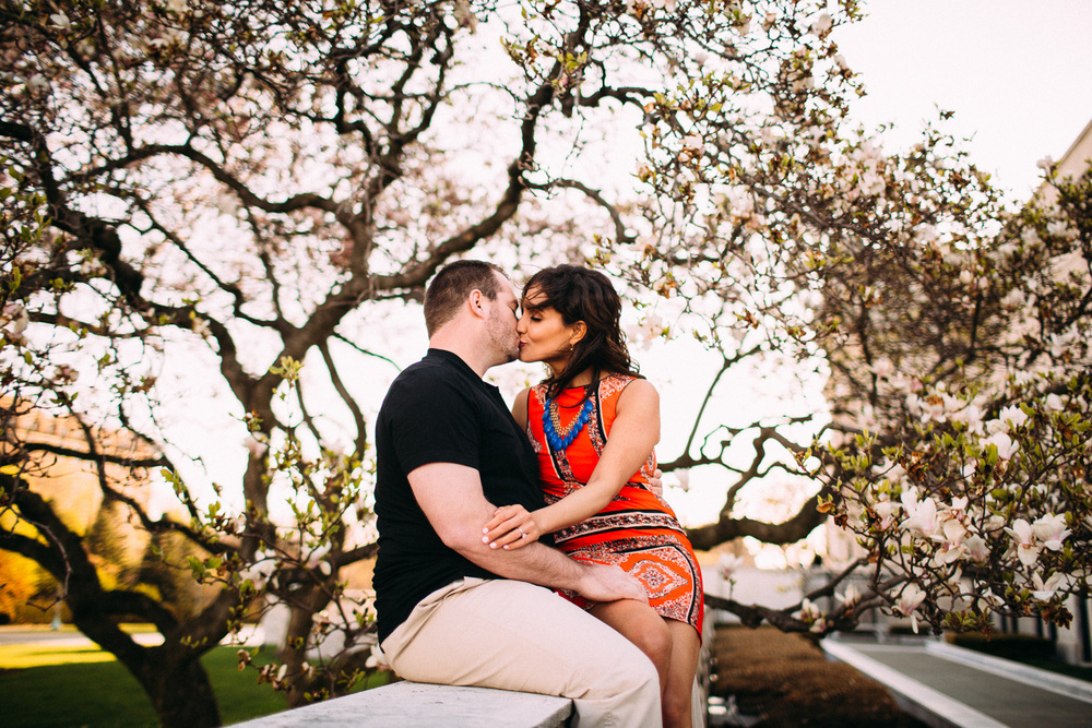 Christina + Mark a spring engagement session in clevceland