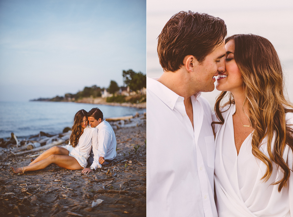 Mandy + Bobby a beach engagement session in northeast ohio
