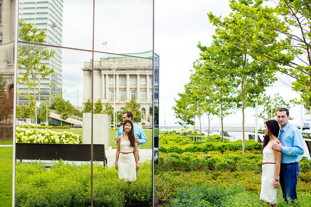 Yuliya + Eric a downtown cleveland engagement session