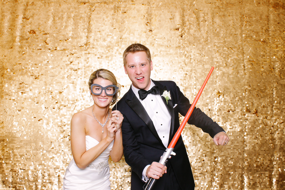 Jackie + Nate photobooth at the findlay country club