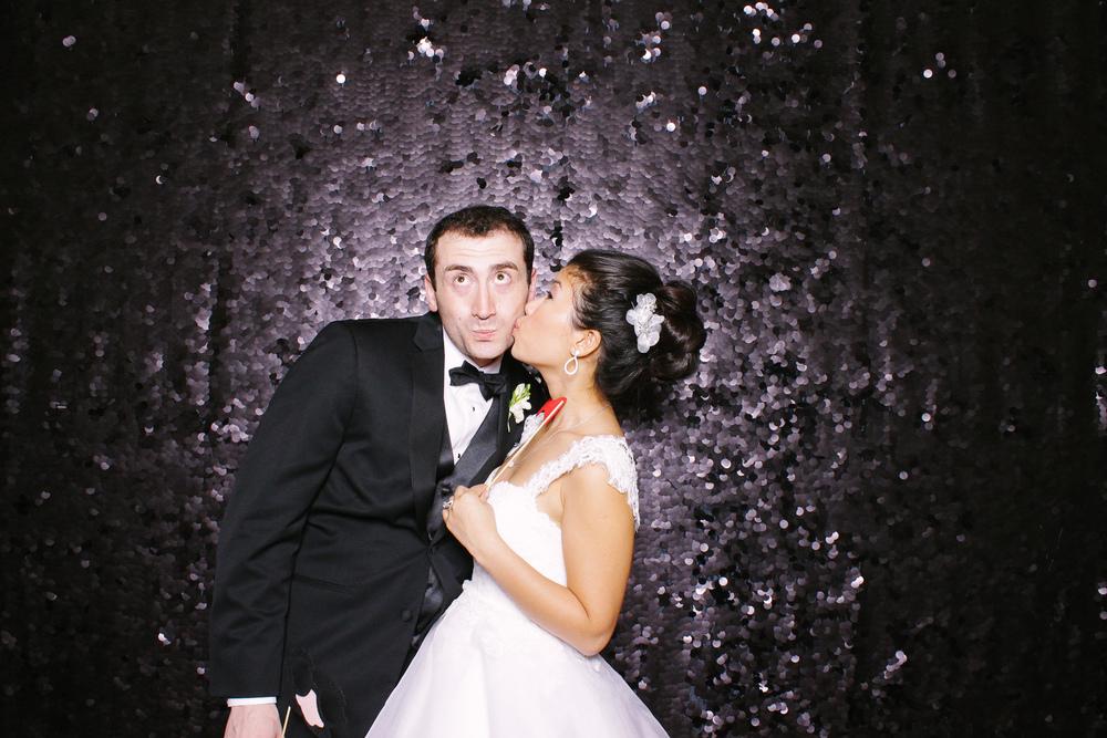 Yuliya + Eric photobooth at the renaissance hotel