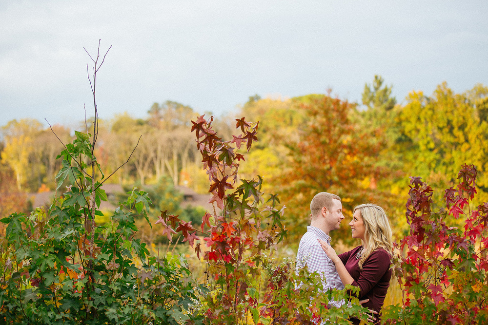 Jess + Tom a rocky river metro parks engagement session