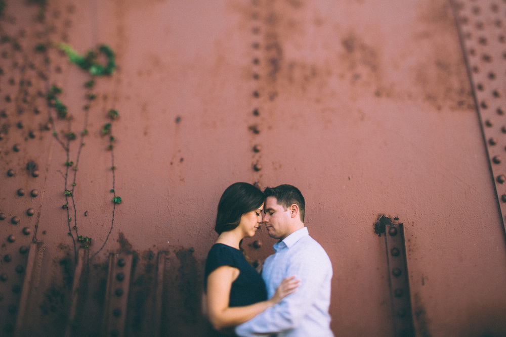 Carrie + Larry a downtown cleveland engagement session