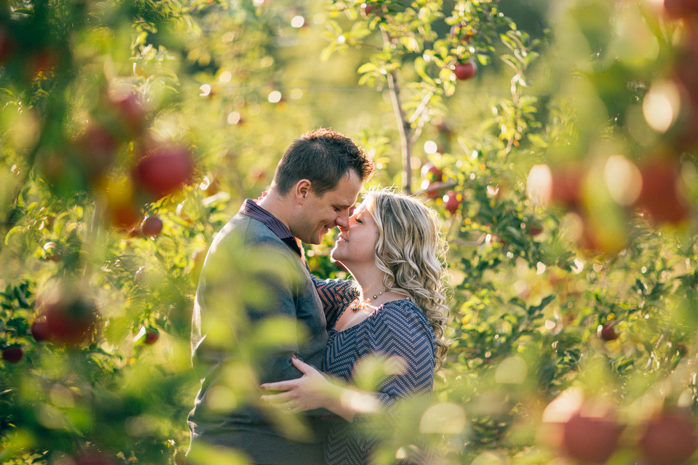 Lisa + Billy a fall apple orchard engagement session