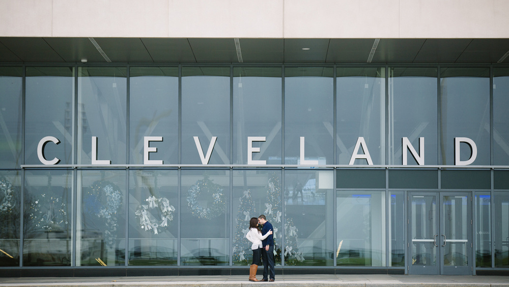 Lauren + David a downtown cleveland engagement session