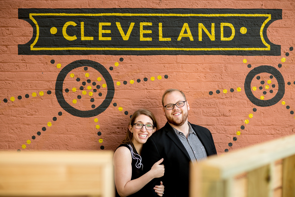Alex + Sam a cleveland engagement session in ohio city