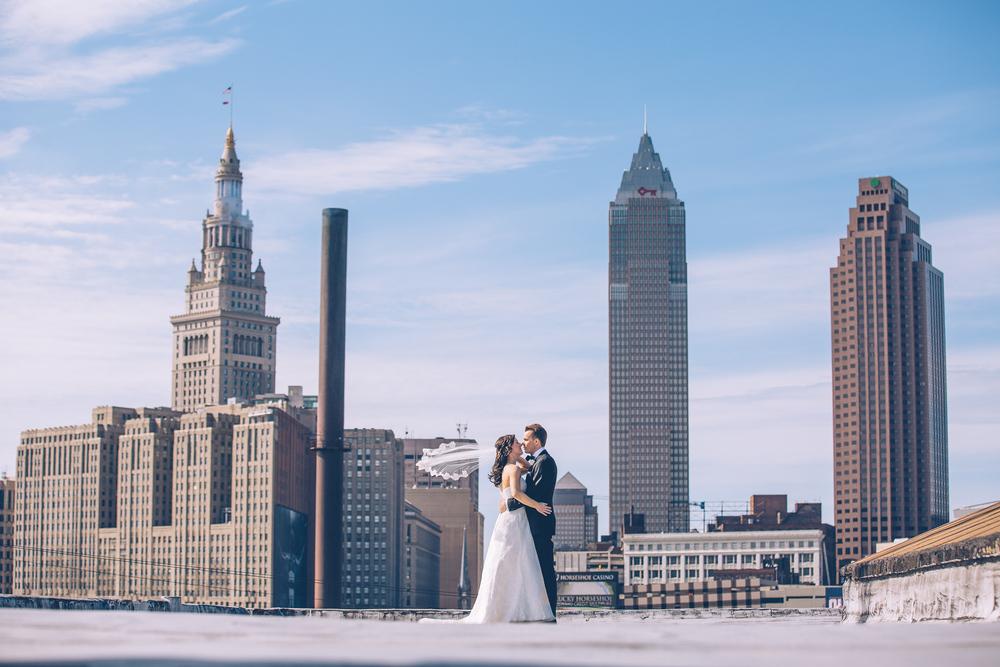 Celine + Matt a cleveland city hall wedding