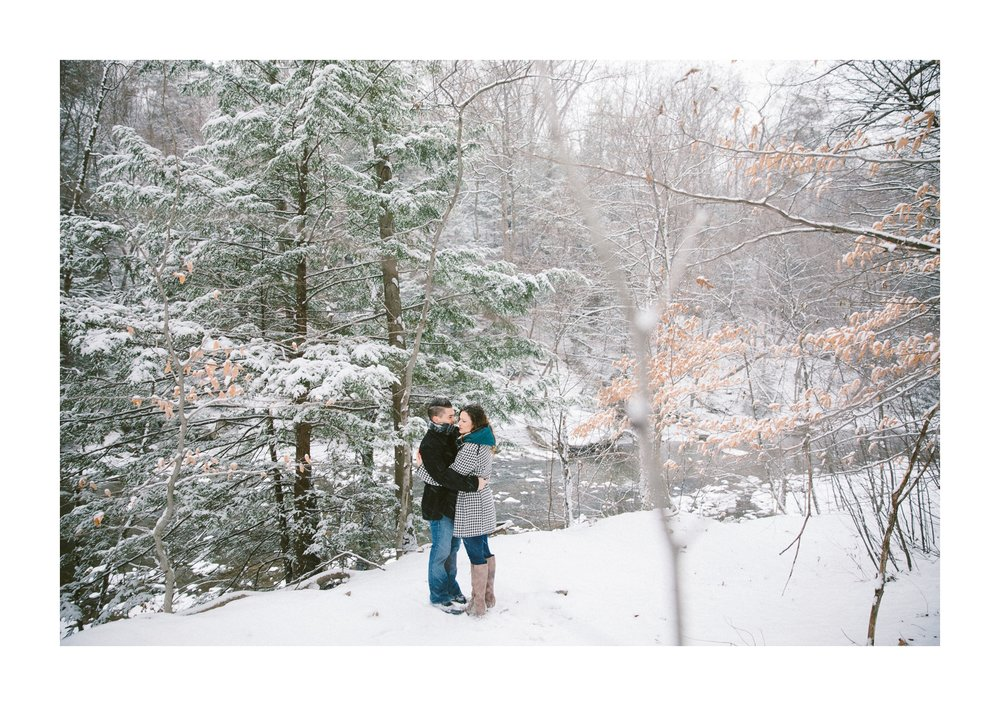 Cleveland Snowy Winter Engagement Session in Chagrin Metroparks 2.jpg