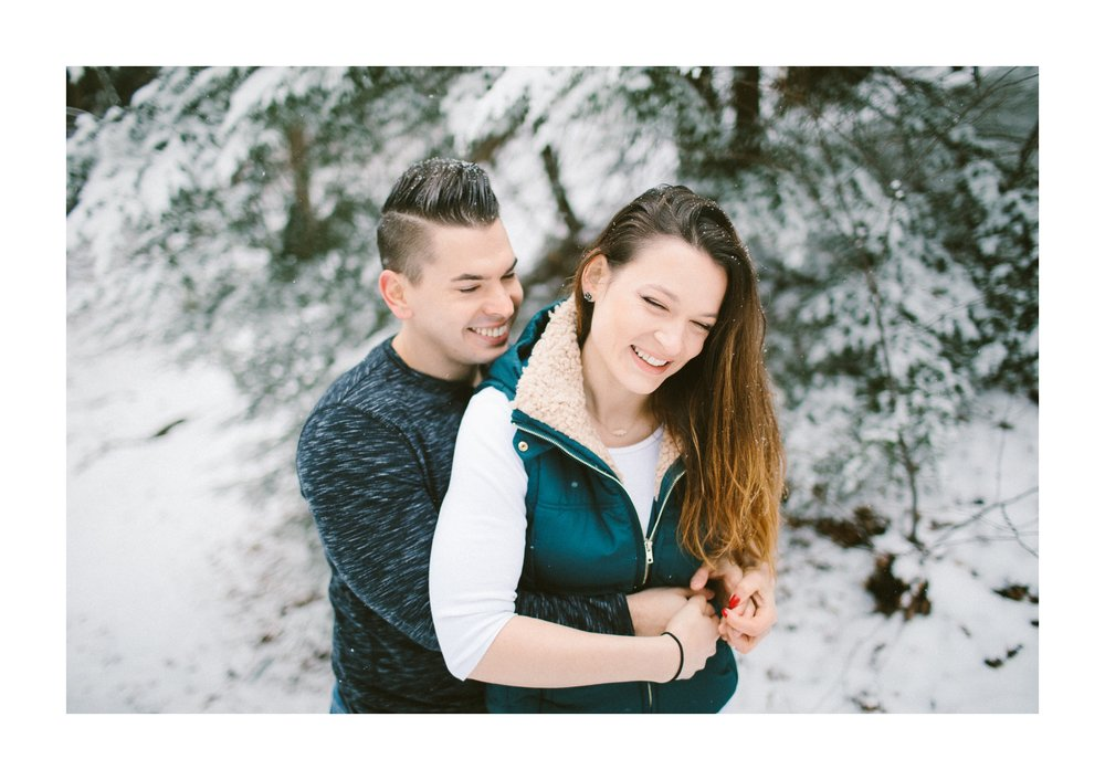 Cleveland Snowy Winter Engagement Session in Chagrin Metroparks 4.jpg