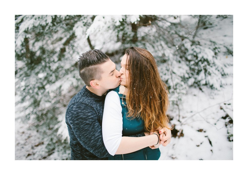 Cleveland Snowy Winter Engagement Session in Chagrin Metroparks 5.jpg