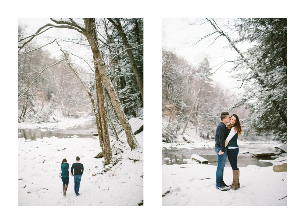 Cleveland Snowy Winter Engagement Session in Chagrin Metroparks 7.jpg