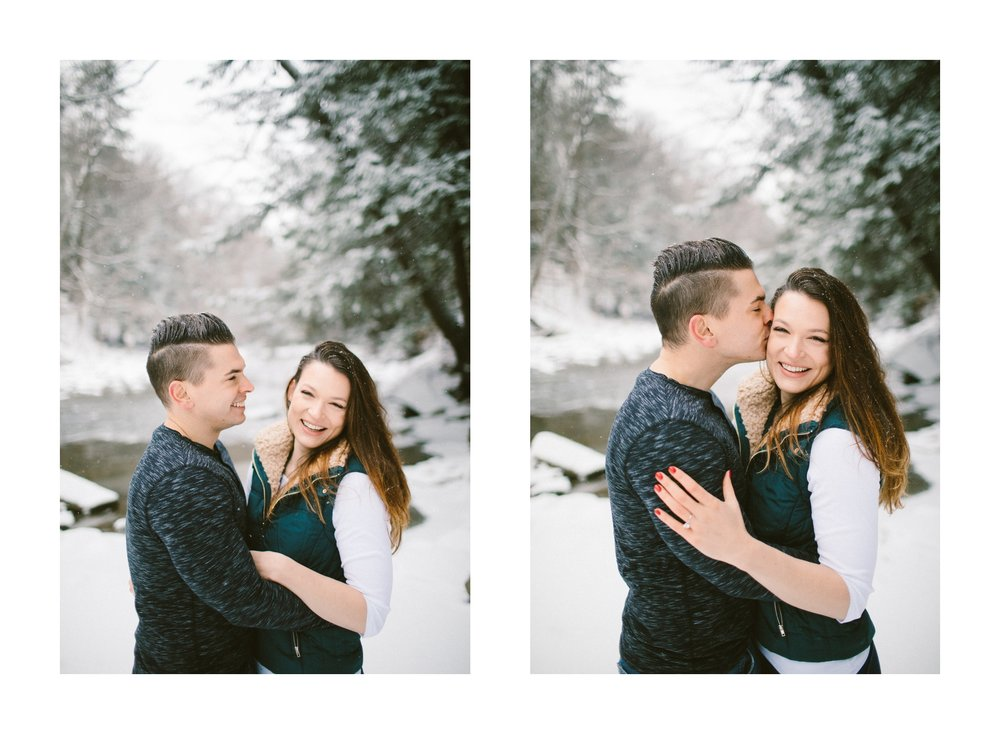 Cleveland Snowy Winter Engagement Session in Chagrin Metroparks 9.jpg